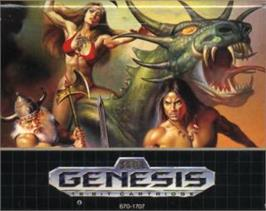 Cartridge artwork for Golden Axe II on the Sega Nomad.