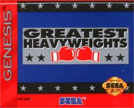 Cartridge artwork for Greatest Heavyweights on the Sega Nomad.