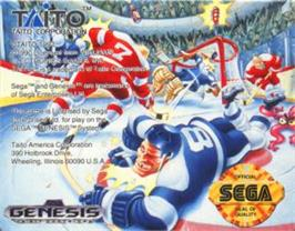 Cartridge artwork for Hit The Ice on the Sega Nomad.