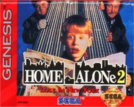 Cartridge artwork for Home Alone 2 - Lost in New York on the Sega Nomad.