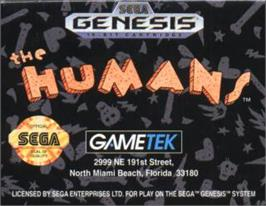 Cartridge artwork for Humans, The on the Sega Nomad.