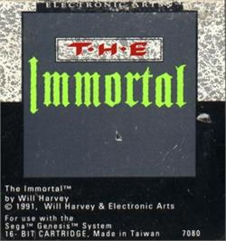 Cartridge artwork for Immortal, The on the Sega Nomad.