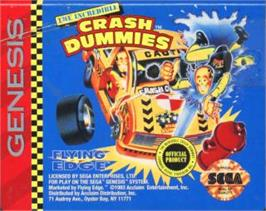 Cartridge artwork for Incredible Crash Dummies, The on the Sega Nomad.