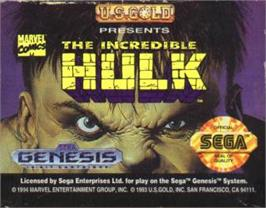 Cartridge artwork for Incredible Hulk, The on the Sega Nomad.