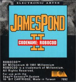Cartridge artwork for James Pond 2: Codename: RoboCod on the Sega Nomad.