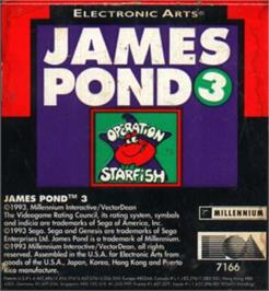Cartridge artwork for James Pond 3: Operation Starfish on the Sega Nomad.