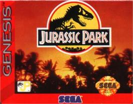 Cartridge artwork for Jurassic Park on the Sega Nomad.