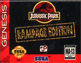 Cartridge artwork for Jurassic Park - Rampage Edition on the Sega Nomad.