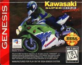 Cartridge artwork for Kawasaki Superbike Challenge on the Sega Nomad.
