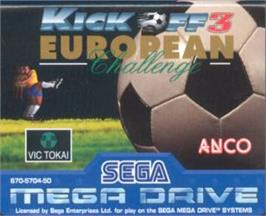 Cartridge artwork for Kick Off 3 on the Sega Nomad.