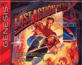 Cartridge artwork for Last Action Hero on the Sega Nomad.