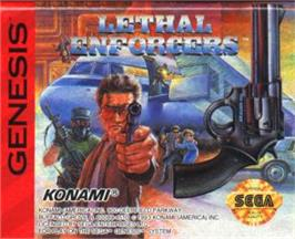 Cartridge artwork for Lethal Enforcers on the Sega Nomad.