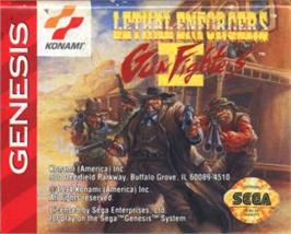 Cartridge artwork for Lethal Enforcers II: Gun Fighters on the Sega Nomad.