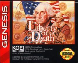 Cartridge artwork for Liberty or Death on the Sega Nomad.
