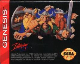 Cartridge artwork for Lost Vikings, The on the Sega Nomad.