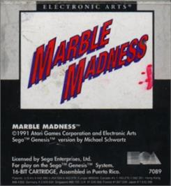 Cartridge artwork for Marble Madness on the Sega Nomad.