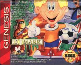 Cartridge artwork for Marko's Magic Football on the Sega Nomad.