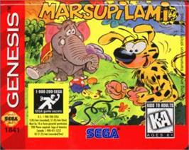 Cartridge artwork for Marsupilami on the Sega Nomad.