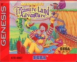 Cartridge artwork for McDonald's Treasure Land Adventure on the Sega Nomad.