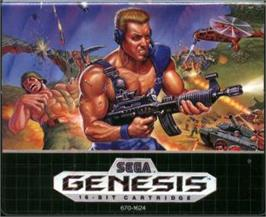 Cartridge artwork for Mercs on the Sega Nomad.