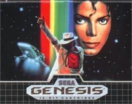Cartridge artwork for Michael Jackson's Moonwalker on the Sega Nomad.