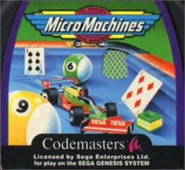 Cartridge artwork for Micro Machines on the Sega Nomad.