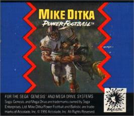 Cartridge artwork for Mike Ditka Power Football on the Sega Nomad.