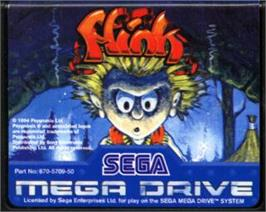 Cartridge artwork for Misadventures of Flink, The on the Sega Nomad.