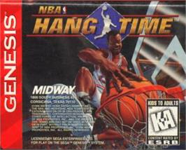 Cartridge artwork for NBA Hang Time on the Sega Nomad.
