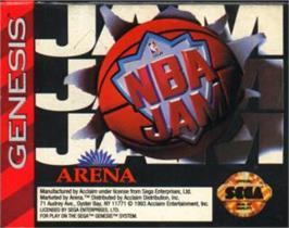 Cartridge artwork for NBA Jam on the Sega Nomad.