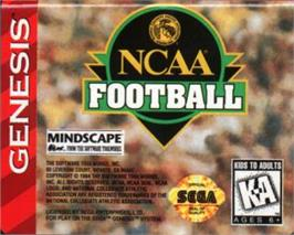Cartridge artwork for NCAA Football on the Sega Nomad.