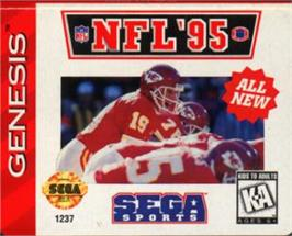 Cartridge artwork for NFL '95 on the Sega Nomad.