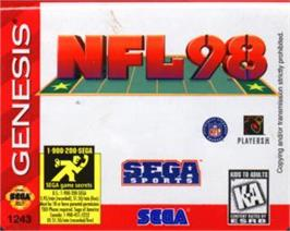 Cartridge artwork for NFL 98 on the Sega Nomad.