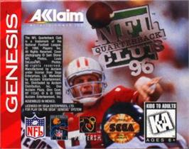 Cartridge artwork for NFL Quarterback Club '96 on the Sega Nomad.