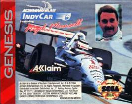 Cartridge artwork for Newman Haas Indy Car on the Sega Nomad.