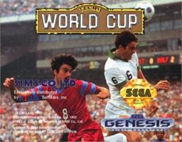 Cartridge artwork for Nintendo World Cup on the Sega Nomad.