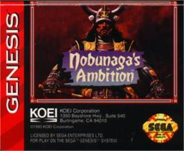 Cartridge artwork for Nobunaga's Ambition on the Sega Nomad.