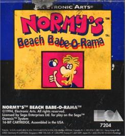 Cartridge artwork for Normy's Beach Babe-O-Rama on the Sega Nomad.