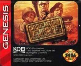 Cartridge artwork for Operation Europe: Path to Victory 1939-45 on the Sega Nomad.