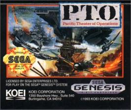 Cartridge artwork for P.T.O.: Pacific Theater of Operations on the Sega Nomad.
