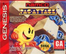 Cartridge artwork for Pac-Attack on the Sega Nomad.