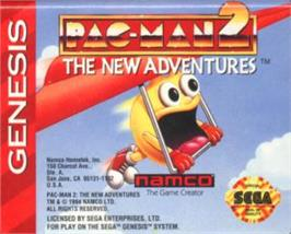 Cartridge artwork for Pac-Man 2: The New Adventures on the Sega Nomad.