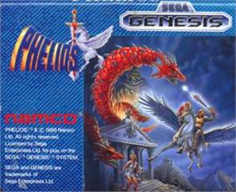 Cartridge artwork for Phelios on the Sega Nomad.