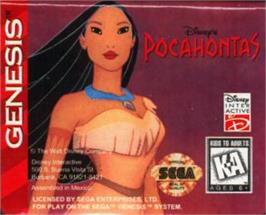 Cartridge artwork for Pocahontas on the Sega Nomad.