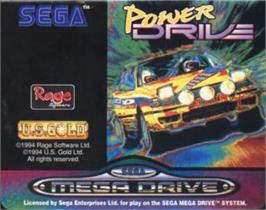 Cartridge artwork for Power Drive on the Sega Nomad.