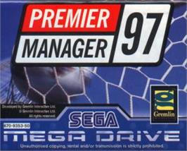 Cartridge artwork for Premier Manager 97 on the Sega Nomad.