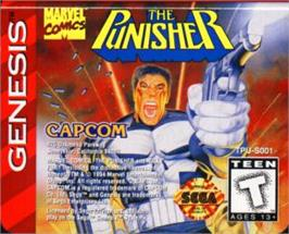 Cartridge artwork for Punisher, The on the Sega Nomad.