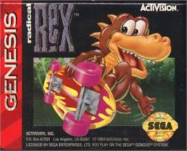 Cartridge artwork for Radical Rex on the Sega Nomad.
