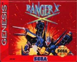 Cartridge artwork for Ranger X on the Sega Nomad.