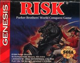 Cartridge artwork for Risk on the Sega Nomad.